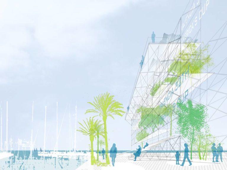 America's Cup Temporary Public Space by Ecosistema Urbano, public space