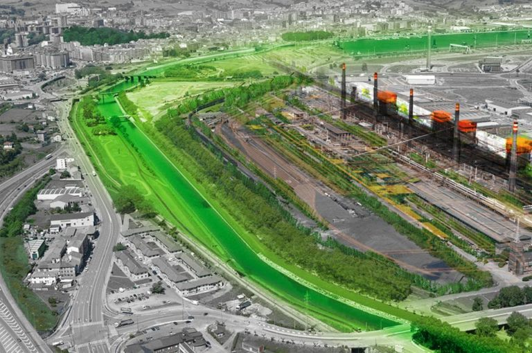 Resetting of an Industrial Area, Avilés, Spain, Sustainable Architecture, environmental architecture, Ecosistema Urbano