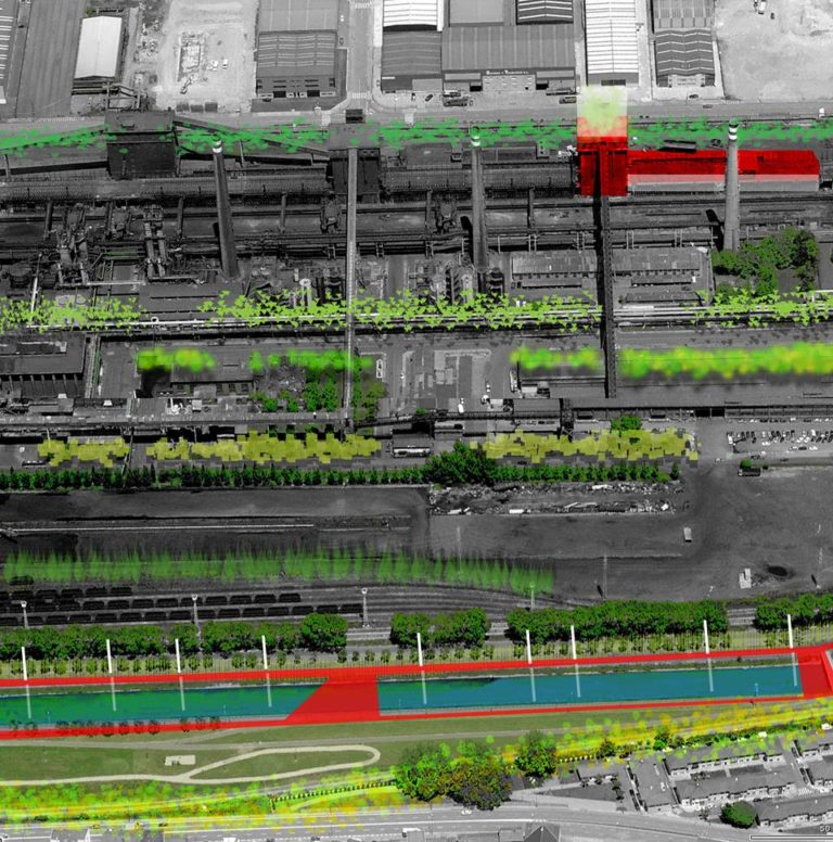 Resetting of an Industrial Area, Hybrid building, Avilés, Spain, Sustainable Architecture, Ecosistema Urbano