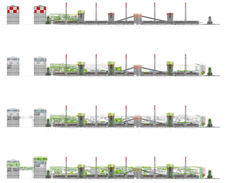 Resetting of an Industrial Area, Avilés, Spain, Sustainable Architecture, environmental architecture, urban activation strategies, Ecosistema Urbano