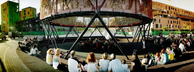 Media Tree activity, Eco-Boulevard in Vallecas, Madrid by Ecosistema Urbano