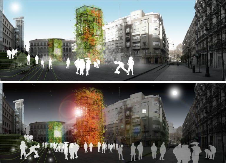 Bioclimatic improvement Strategy for public spaces, Madrid, Ecosistema Urbano, Comfortable public Spaces,
