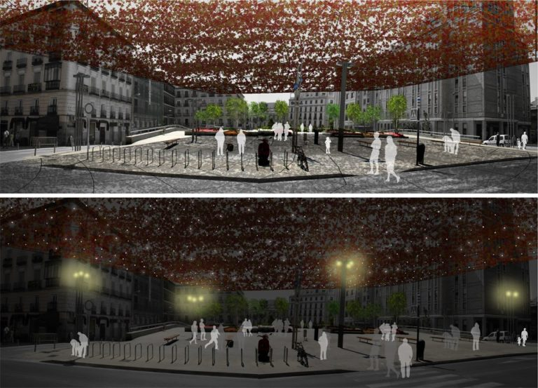 Bioclimatic improvement Strategy for public spaces, Madrid, Ecosistema Urbano, Comfortable public Spaces, responsive public spaces, people friendly spaces