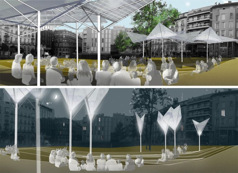 Bioclimatic improvement Strategy for public spaces, Madrid, Ecosistema Urbano, Comfortable public Spaces, responsive public spaces,