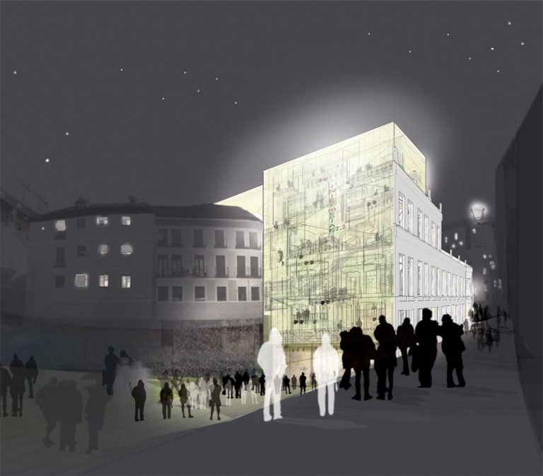 Intermediae Prado, Madrid, Ecosistema Urbano, Hybrid Building,