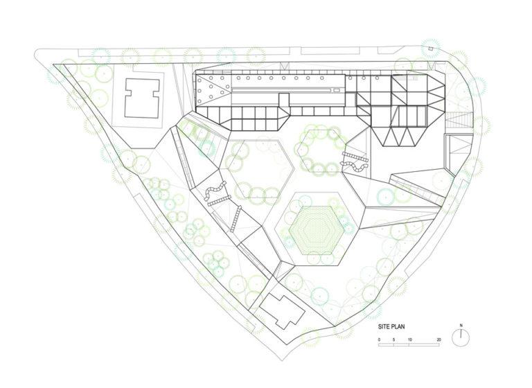 Site plan, plaza ecopolis, ecosistema urbano