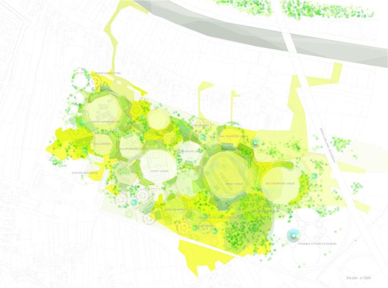 Plan, Regeneration of a former landfill by Ecosistema Urbano