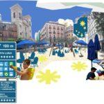 Social Interaction, Temporary Beach on the Moon Square by Ecosistema Urbano