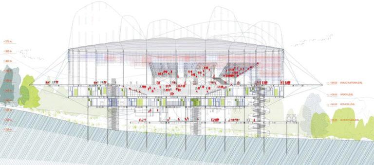 Transformer Taekwondo Arena, adaptive architecture, ecosistema urbano, urban catalysts