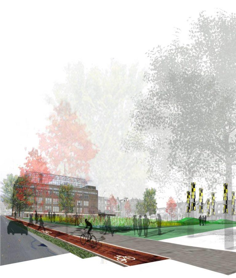 Urban activation strategies, Ecological Reconfiguration of an urban center, Philadelphia by Ecosistema Urbano, USA