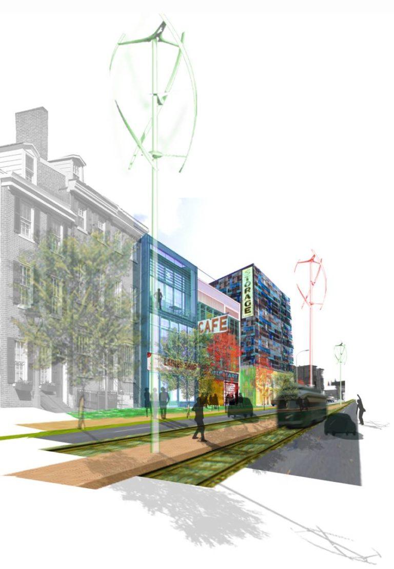 Comfortable Public Spaces, Ecological Reconfiguration of an urban center, Philadelphia by Ecosistema Urbano, USA