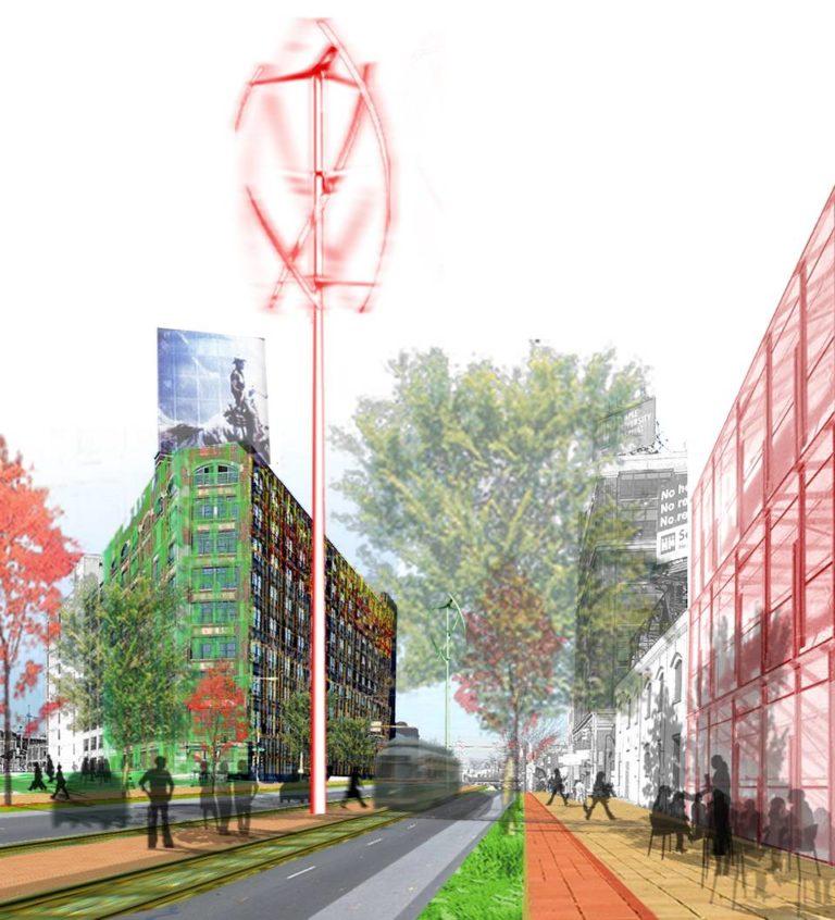 Responsive Public Spaces, Ecological Reconfiguration of an urban center, Philadelphia by Ecosistema Urbano, USA