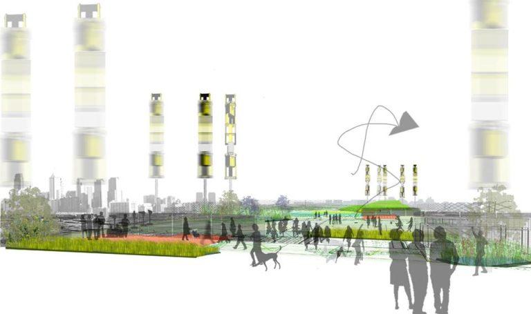 Urban strategy, Ecological Reconfiguration of an urban center, Philadelphia by Ecosistema Urbano, USA