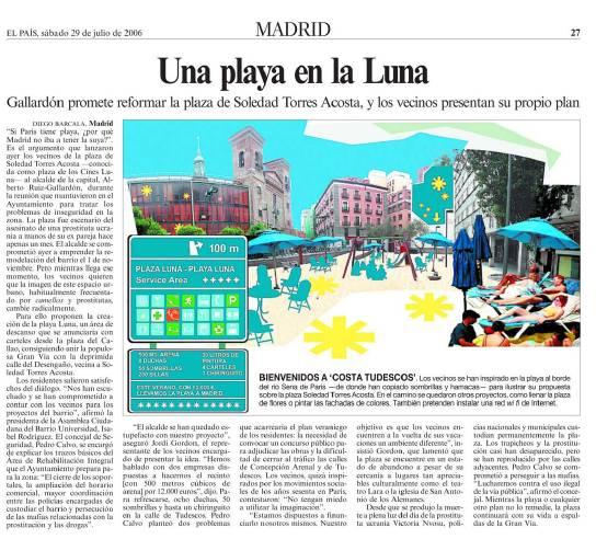 Participatory Design, Temporary Beach on the Moon Square by Ecosistema Urbano, Madrid