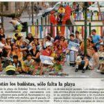 Participatory Urbanism, Temporary Beach on the Moon Square by Ecosistema Urbano