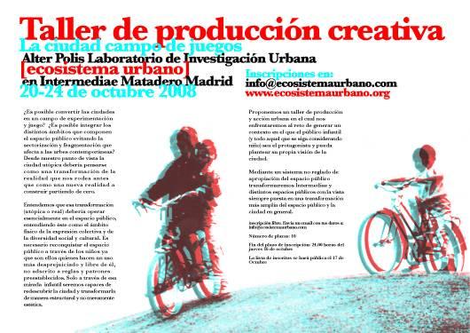 The city as playground, madrid, ecosistema urbano, civic engagement, community engagement,