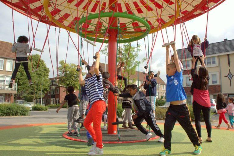 Energy Carousel, responsive public spaces, Dordrecht, ecosistema urbano