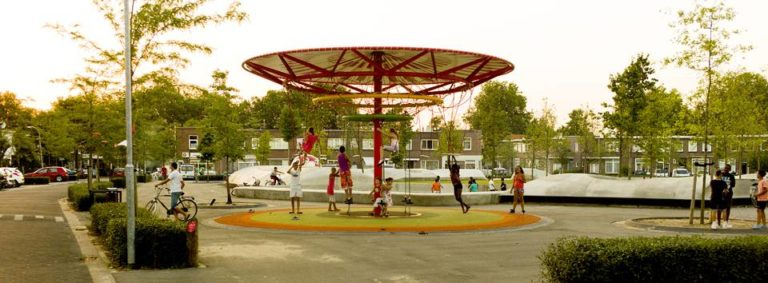Energy Carousel, people friendly spaces, Dordrecht, ecosistema urbano