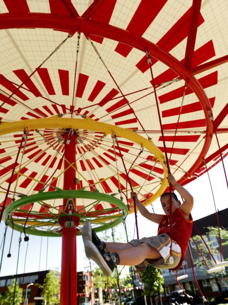 Energy Carousel, responsive place, Dordrecht, ecosistema urbano