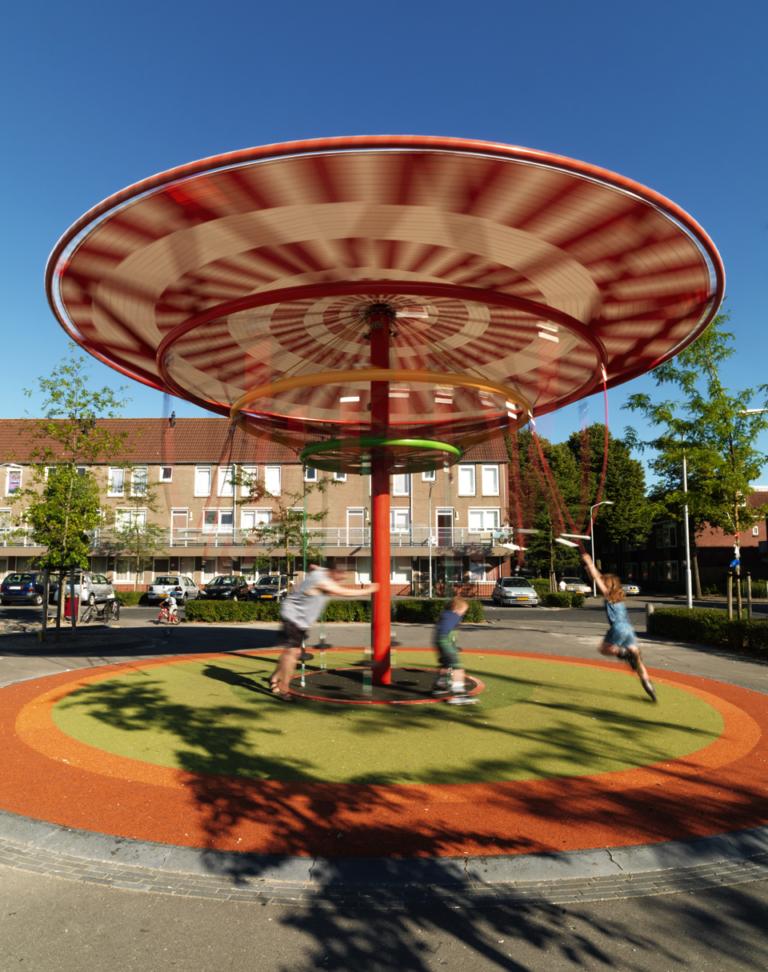 Energy Carousel, responsive architecture, Dordrecht, ecosistema urbano