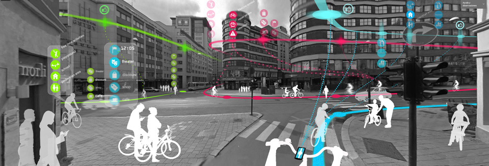 Smart public spaces, Bikeline, Oslo, Norway, Ecosistema Urbano