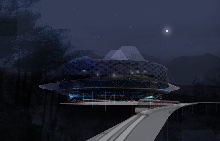 Transformer Taekwondo Arena, adaptive architecture, ecosistema urbano, hybrid architecture