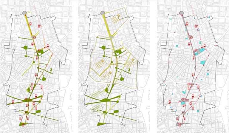 Urban social design, URBAN PLAN FOR THE FUENCARRAL AXIS, ecosistema urbano