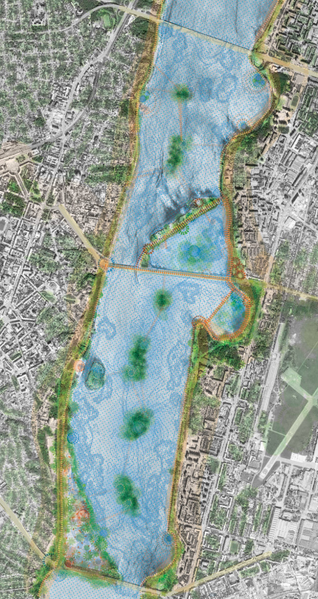 Water Map, Voronezh Sea Revitalization, ecosistema urbano