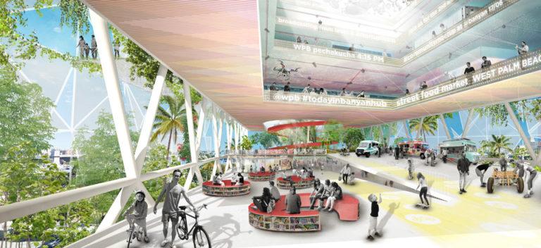 Banyan Hub plaza by Ecosistema Urbano