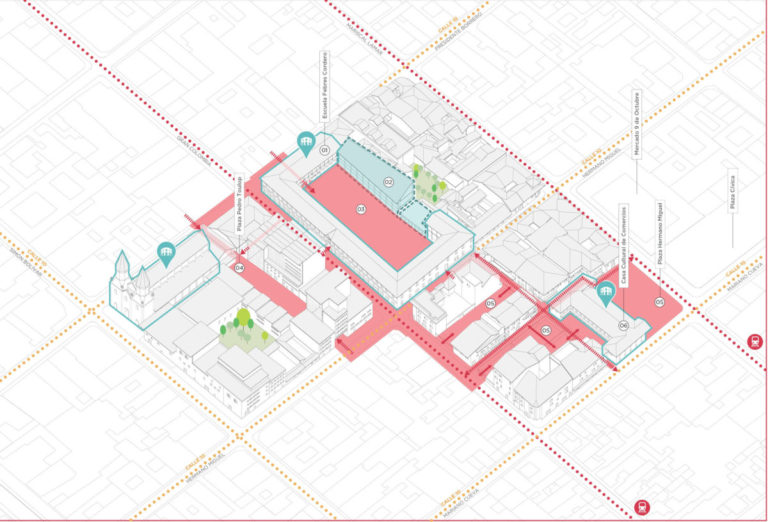 AXONOMETRIA - Febres Cordero by Ecosistema Urbano