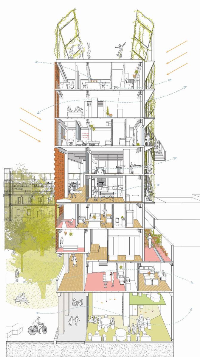 Mixed use building Febres Cordero by Ecosistema Urbano