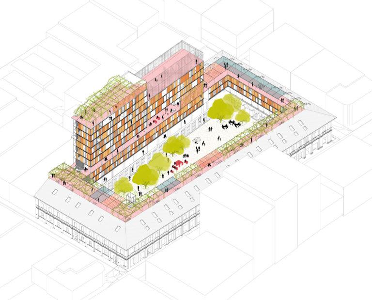 Axo General - Febres Cordero by Ecosistema Urbano