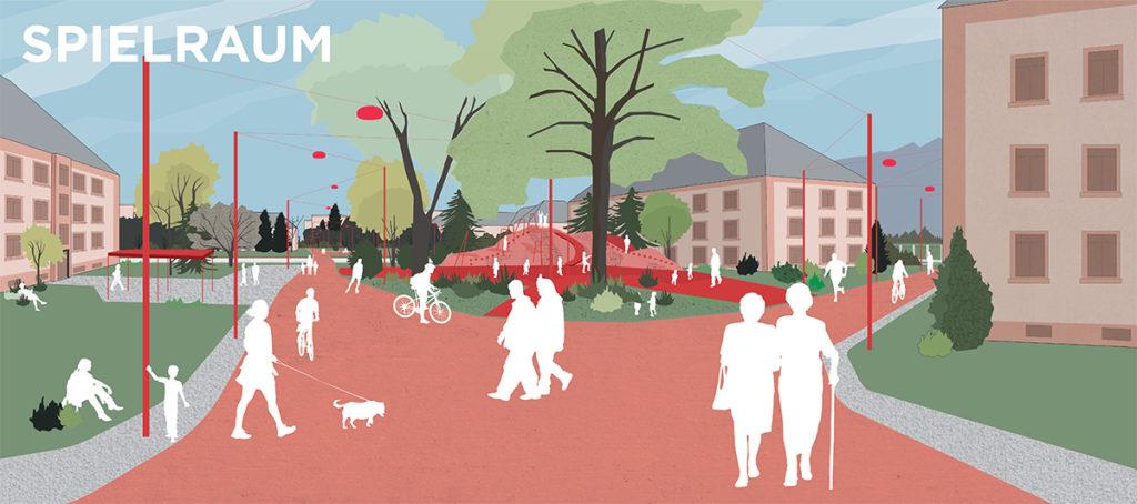 Ecosistema Urbano, Heidelberg, spielraum