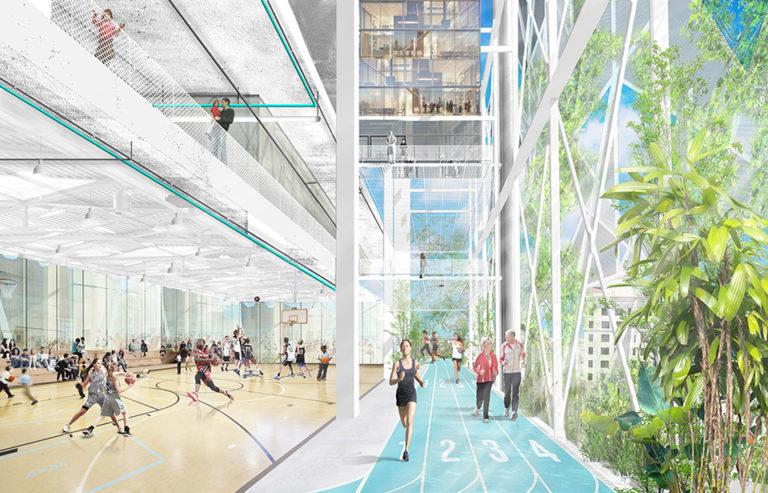 Banyan Hub's YMCA gym