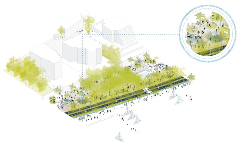 AXO, Harbor Waterfront in Palma by Ecosistema Urbano